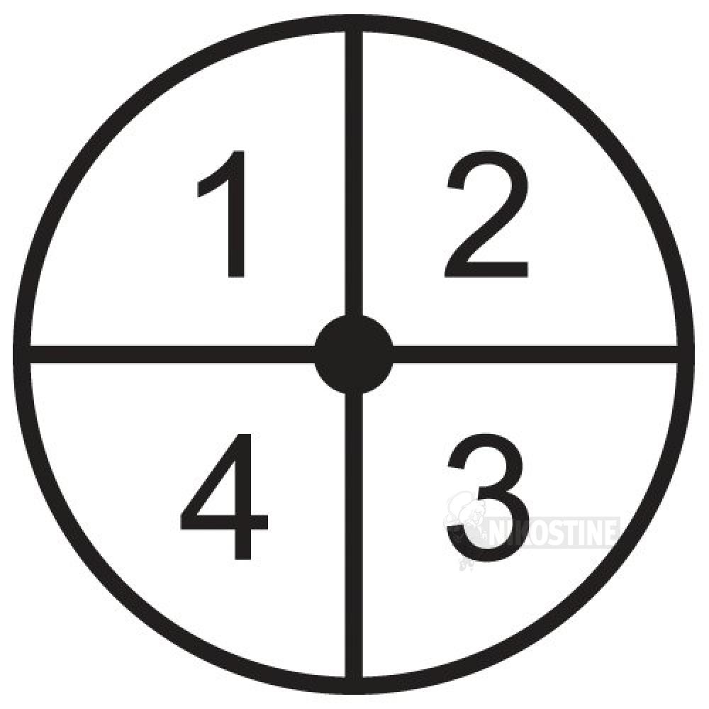 Opstregning Ostespil, cirkel sort, hvid