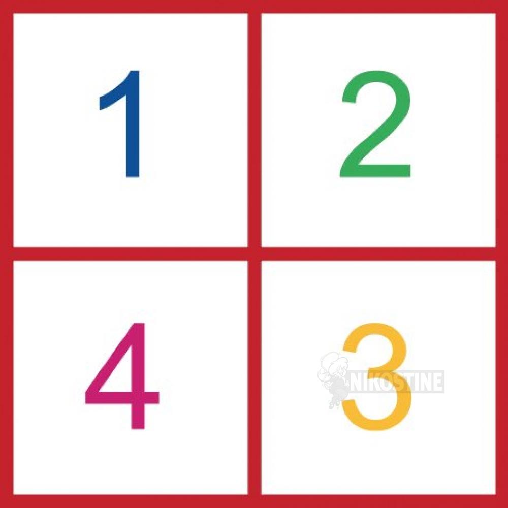 Opstregning Ostespil, firkant, farver