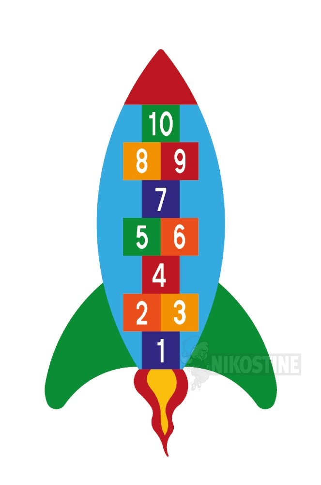 Opstregning Raket, hinkerude 1-10