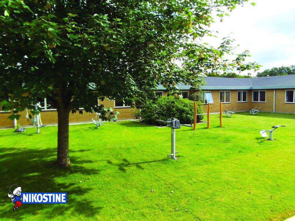 Udendørs Fitness Udstyr hos SOSU Skolen i Esbjerg
