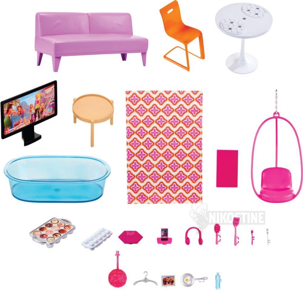 barbie møbler Køb Barbie Malibu hus inkl. møbler online   Dukkehus & tilbehør barbie møbler