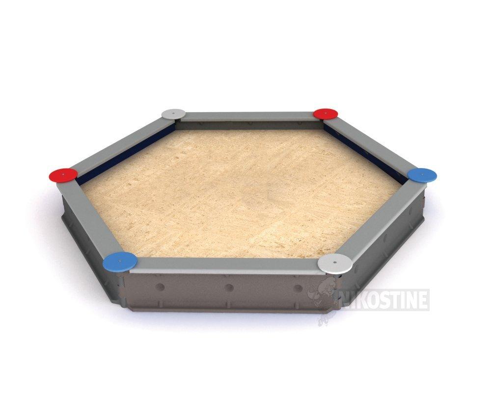Køb Sekskantet sandkasse t/beton, Grå online - Sandkasser & tilbehør