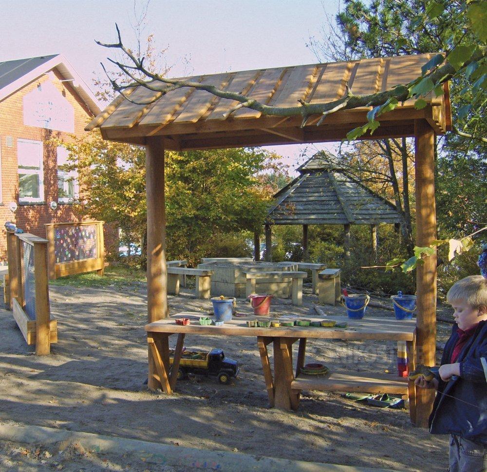 officielt sted efterårssko officiel butik Udekøkken med vask og hylde