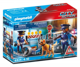 Politivejspærring m 2 figurer, Playmobil