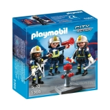Brandmandsteam m. 3 figurer, Playmobil