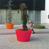 Loop Cone Planter - Rød