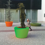 Loop Cone Planter - Limegrøn