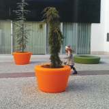 Loop Cone Planter - Orange